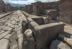 Fontana romana a Pompei Fotografia Stock