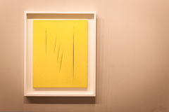 Fontana's work of art at Miart 2014 in Milan Royalty Free Stock Images