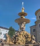 Fontana Salisburgo di Residenz immagini stock libere da diritti