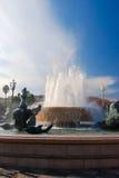 Fontana Soleil sul posto Massena in Nizza, Francia immagine stock