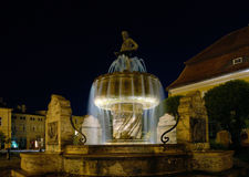 Fontana, statua del pescatore. Fotografia Stock