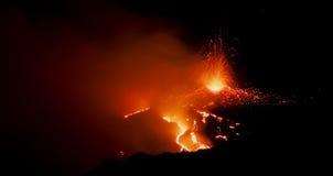 Fontana su Etna Fotografia Stock Libera da Diritti