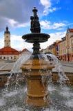 Fontana sul ystok del 'di BiaÅ del quadrato di Kosciuszko immagine stock libera da diritti