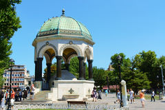 Fontana tedesca in Sultan Ahmet Square, Costantinopoli, Turchia Fotografia Stock