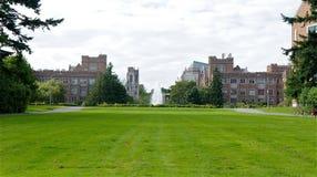 Fontana in università di Washington Fotografie Stock