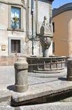 Fontana vecchia. Soriano nel Cimino. Lazio. Italy. Fontana vecchia of Soriano nel Cimino. Lazio. Italy Royalty Free Stock Photo