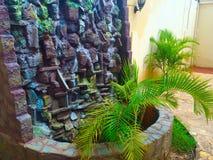 fontana verde della natura Fotografie Stock Libere da Diritti