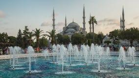 Fontana vicino a Sultan Ahmed Mosque Blue Mosque, Costantinopoli, Turchia Immagine Stock