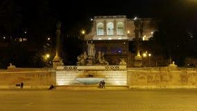Fontanadella Dea di Roma Piazza del Popolo, ROM stock video