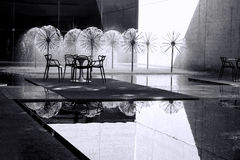 Fontane in bianco e nero Fotografie Stock