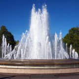Fontane davanti al palazzo di Amalienborg fotografia stock libera da diritti