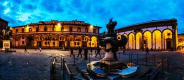 Fontane dei Mostri Marini w Florencja, Włochy Obraz Royalty Free