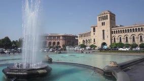 Fontane di canto del quadrato della repubblica di Yerevan archivi video