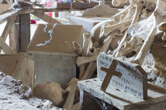 Fontanel cemetery in Naples, Italy Royalty Free Stock Photography