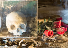 Fontanelbegraafplaats in Napels, Italië royalty-vrije stock foto