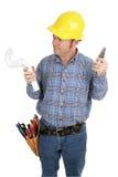 Fontanero del electricista no foto de archivo libre de regalías