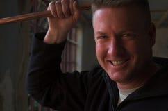 Fontanero sonriente Foto de archivo libre de regalías