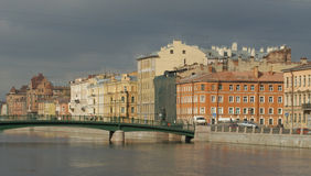 fontanka彼得斯堡河st 免版税库存图片