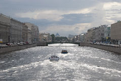 Fontanka河在Sain彼得斯堡 俄国 免版税库存图片