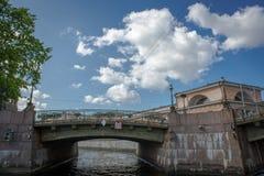 fontanka Πετρούπολη rriver Ρωσία ST στοκ εικόνες