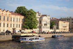 Fontanka canal in Saint-Petersburg Royalty Free Stock Images