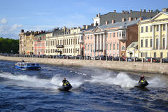 Fontanka canal in Saint-Petersburg Royalty Free Stock Photography