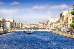 Fontanka canal in Saint Petersburg Royalty Free Stock Images