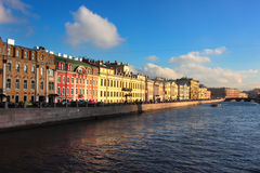 Fontanka canal in Saint Petersburg, Russia Royalty Free Stock Photos