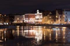 Fontanka-Damm Russland St Petersburg nacht Stockfotos