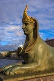 Fontanka Embankment Sphinx Royalty Free Stock Images