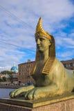 Fontanka Embankment Sphinx Stock Photo
