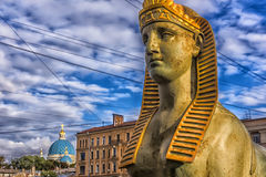 Fontanka Embankment Sphinx Royalty Free Stock Photography
