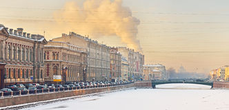 Fontanka Embankment, St Petersburg, Russia Royalty Free Stock Photography