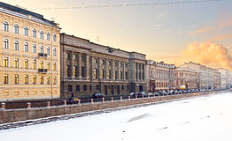 Fontanka Embankment, St Petersburg, Russia Royalty Free Stock Photos