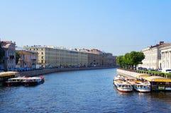 Fontanka flod i Stet Petersburg Fotografering för Bildbyråer