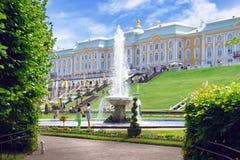 Fontanka flod i Stet Petersburg Arkivfoto