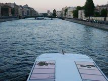 Fontanka flod, St Petersburg Ryssland Arkivfoton