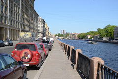 Fontanka-Kanal-Damm Lizenzfreie Stockbilder