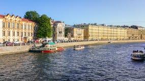 Fontanka kanal i St Petersburg Royaltyfri Fotografi