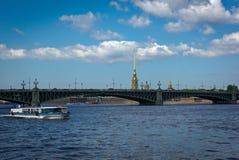 fontanka Petersburg rriver Russia st Obrazy Stock