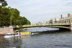 The Fontanka river embankment Royalty Free Stock Photo