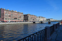 The Fontanka river embankment Stock Photo
