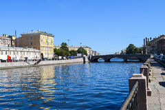 The Fontanka river embankment. In St.Petersburg, Russia Royalty Free Stock Photography