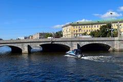 The Fontanka river embankment. In St.Petersburg, Russia Stock Image