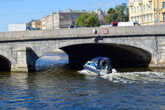 The Fontanka river embankment. In St.Petersburg, Russia Stock Photography