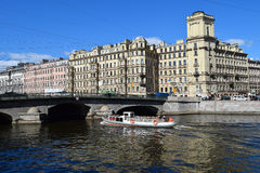 The Fontanka river embankment. In St.Petersburg, Russia Royalty Free Stock Photo