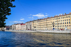 The Fontanka river embankment in St.Petersburg. Russia Royalty Free Stock Photos