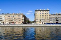 The Fontanka river embankment in St.Petersburg. Russia Stock Photo