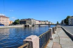 The Fontanka river embankment in St.Petersburg. Russia Stock Photos