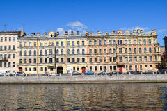 The Fontanka river embankment in St.Petersburg Royalty Free Stock Images